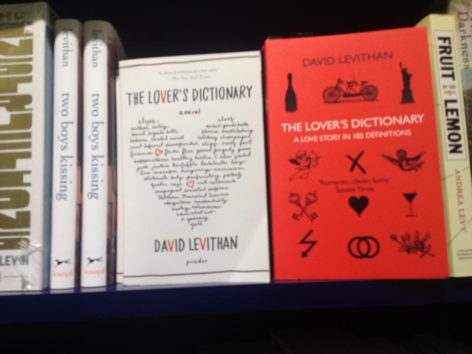 Two versions of The Lover's Dictionary
